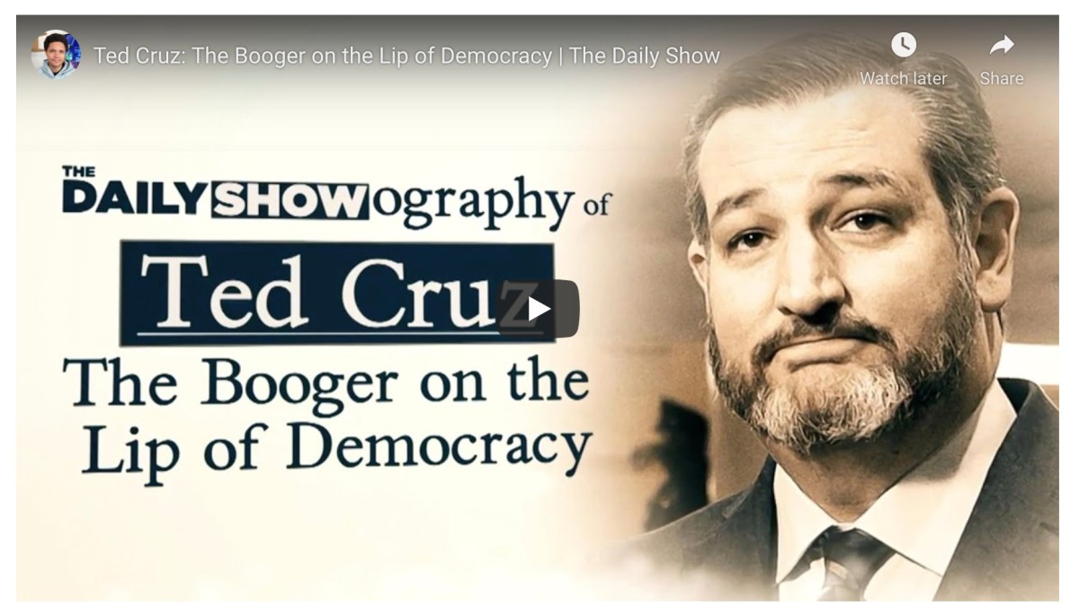 "Watch The Daily Show's 9-minute documentary on Ted Cruz: ""a nightmare of a human being"" 