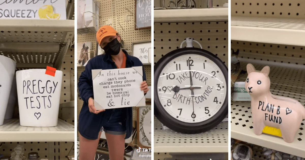 """""""Banksy of Rae Dunn"""" droplifts pro-birth control products in Hobby Lobby 