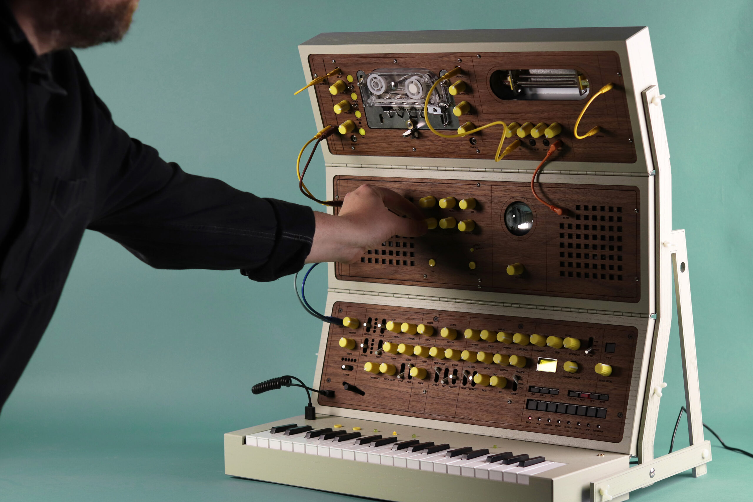 Check out this amazing handmade modular synthesizer