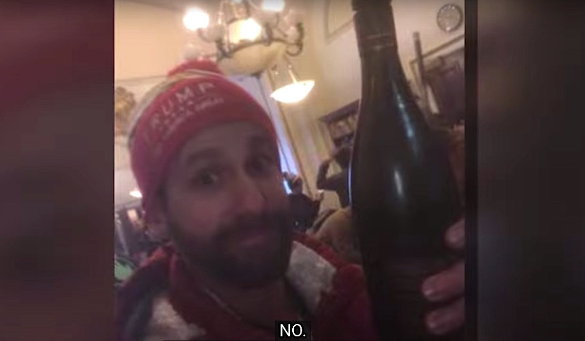 Gentleman who drank wine at Capitol riot learns mid-interview he's now running for wrong political seat   Boing Boing