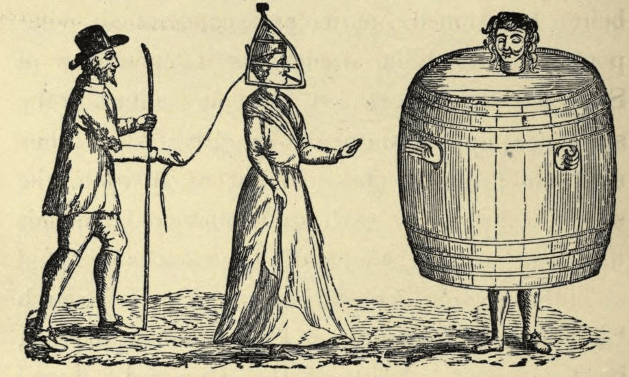 In times of olde, drunks were punished by being forced to wear a barrel in public | Boing Boing