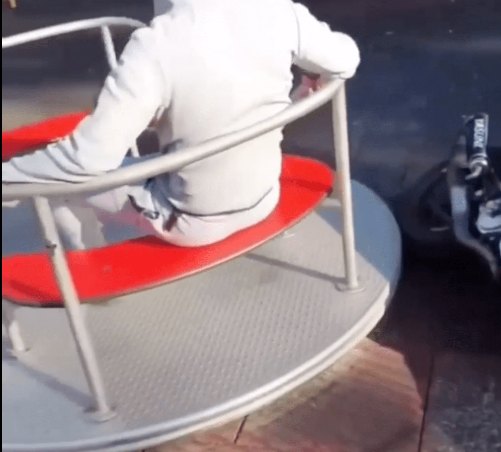Motorcycle overpowers playground merry-go-round to disastrous effect | Boing Boing