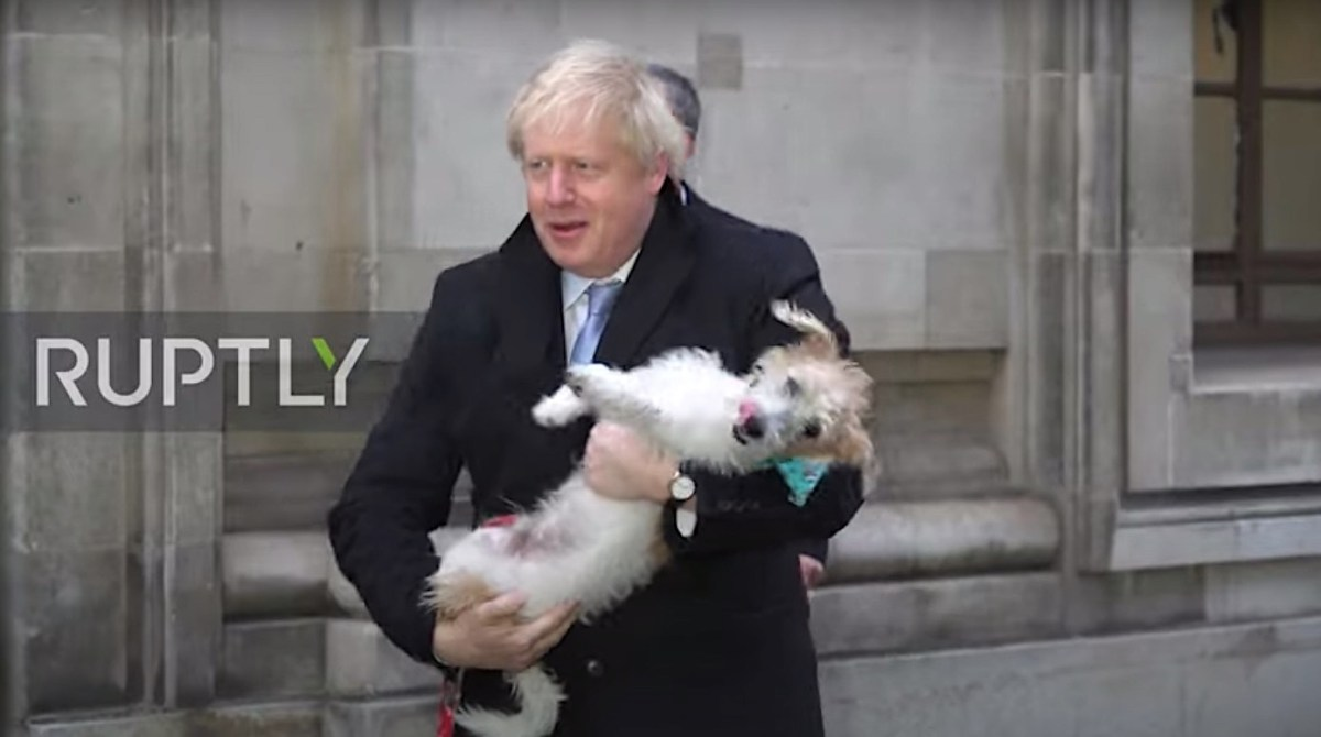 """Boris Johnson hilariously admits his dog has """"romantic urges"""" in video   Boing Boing"""