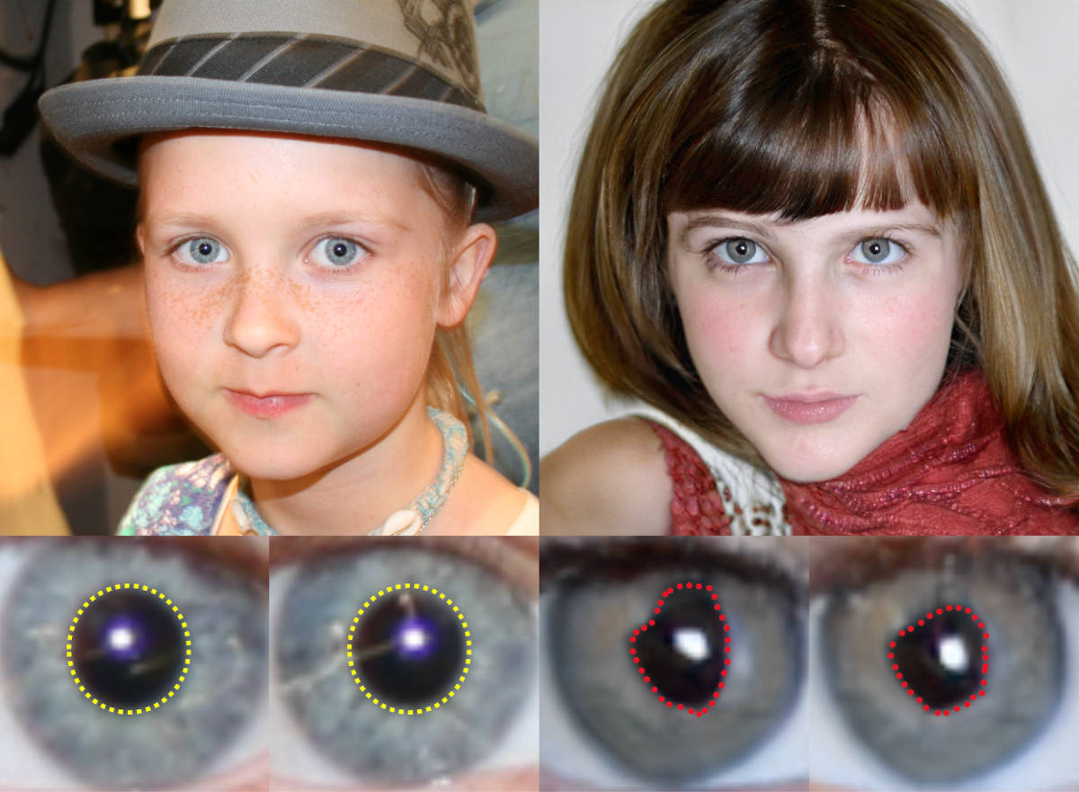 Detecting fake AI-generated faces by looking for irregular pupils   Boing Boing