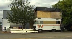 DIY double-decker RV angering neighbors in Seattle