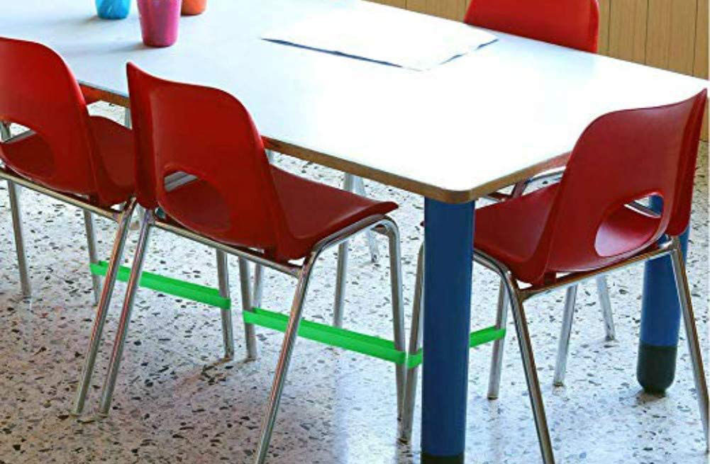 These elastic bands attach to chairs and give people with ADHD a nice way to fidget