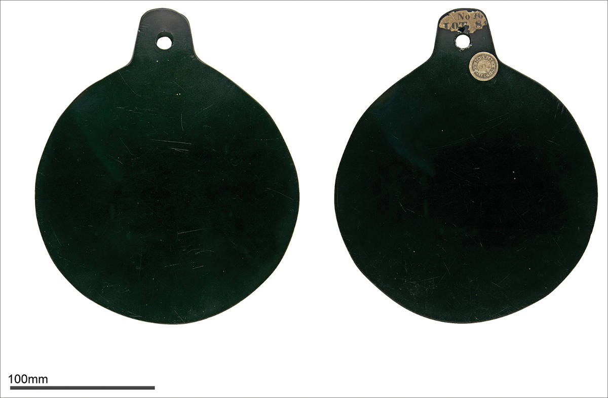 Picture of John Dee's obsidian scrying mirror