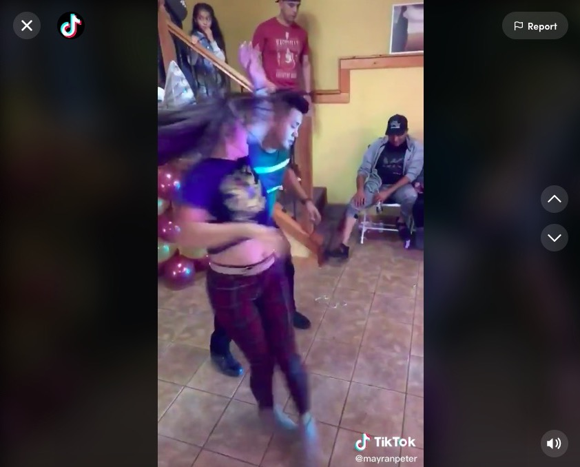 Watch a mom nearly blur in this amazing dance for her son's 6th birthday party