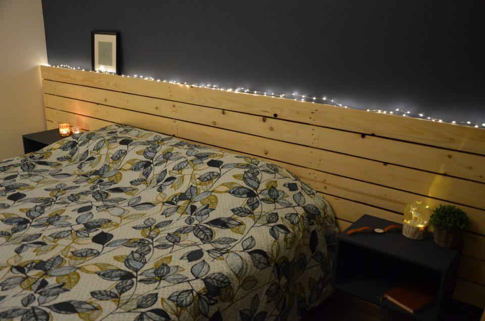 Tête de lit en palette recyclé