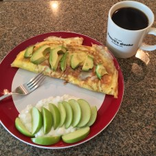 Omelette with Caffe Dalí dark roast