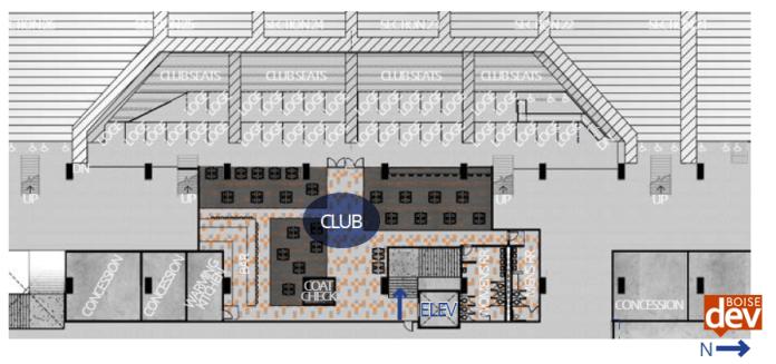Albertsons Stadium club level