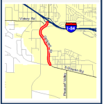 Orchard St: Gowen to I-84 map