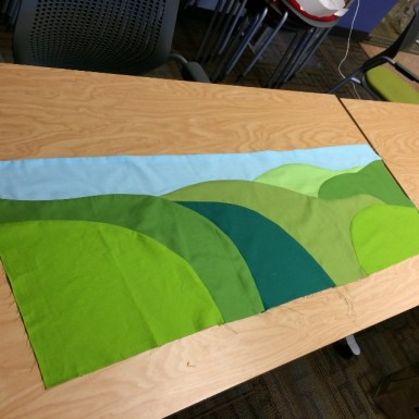Recognize those hills? They are from the BMQG logo and will be part of the banner quilt.