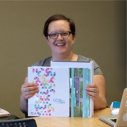 Lindsie and the 2017 Quilters Planner