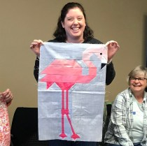 Laura Flamingo Quilt Block