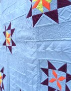 close up of detailed quilting