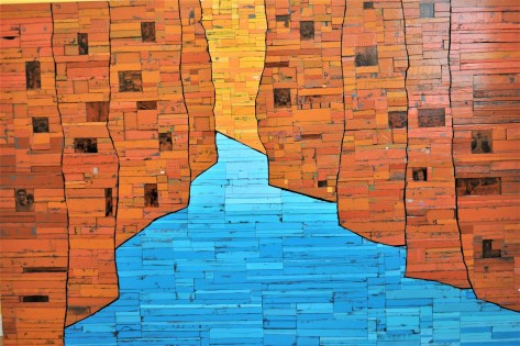 wooden art piece inspired by Zion National Park