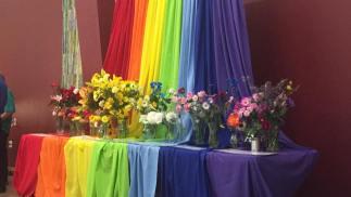 Flower Communion altar