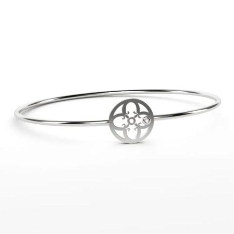 Bracelet Or Gris Palladié 750/1000ème et brillant