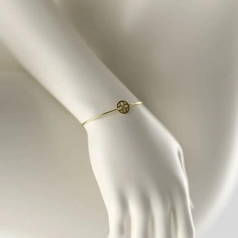 Bracelet Or Jaune 750/1000ème avec brillant