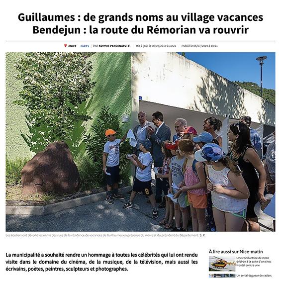 Reportage : hommage au célébrités du cinéma venues rendre visite à Guillaume