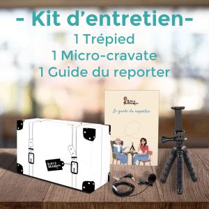 kit micro-cravate, trépied