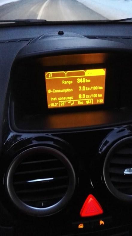 Temperatura zjutraj na Rudnem polju