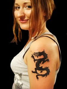Girl Dragon Tattoos