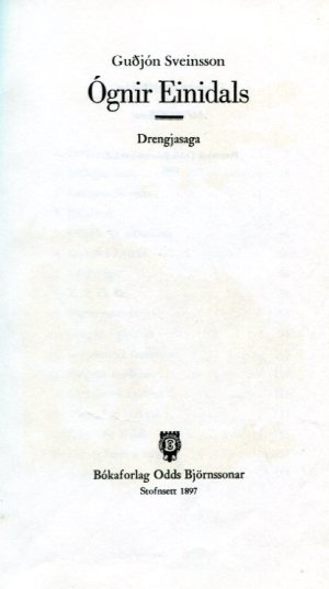Ógnir Einidals - Guðjón Sveinsson