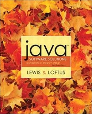 Java Software Solutions, foundations of program design