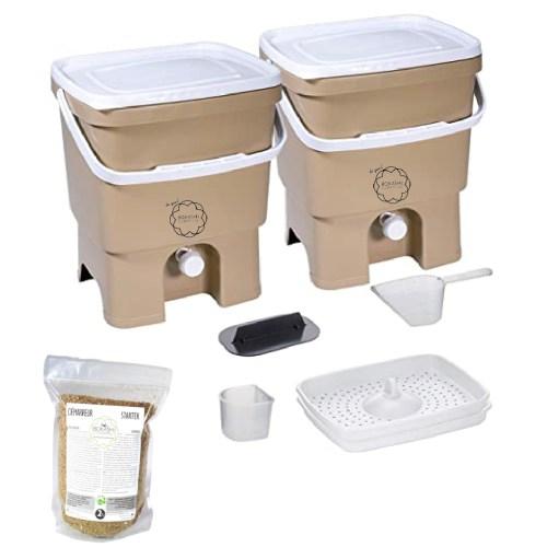 Starter Kit Bokashi composteur 2 sceaux Organko et activateur 2kg