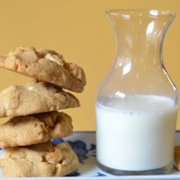 White Toblerone Macadamia Cookies