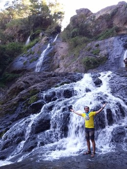 Amidst the majestic Bomod-ok Falls in Sagada