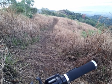 The wet grass made it harder for the descent even in the B Track