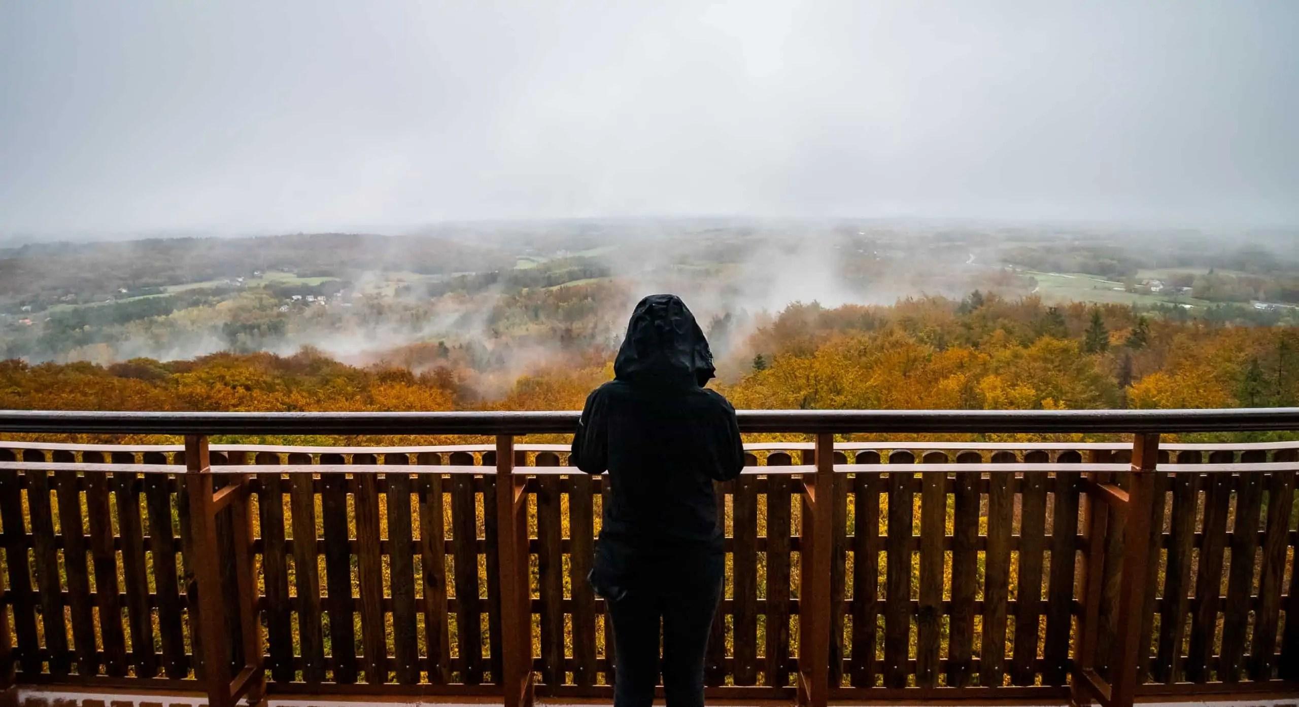Jesienny portret wieżyca krajobraz widoku kaszubskich lasów - Najlepszy prezent dla fotografa jest darmowy. Resztę kupisz do 100 pln