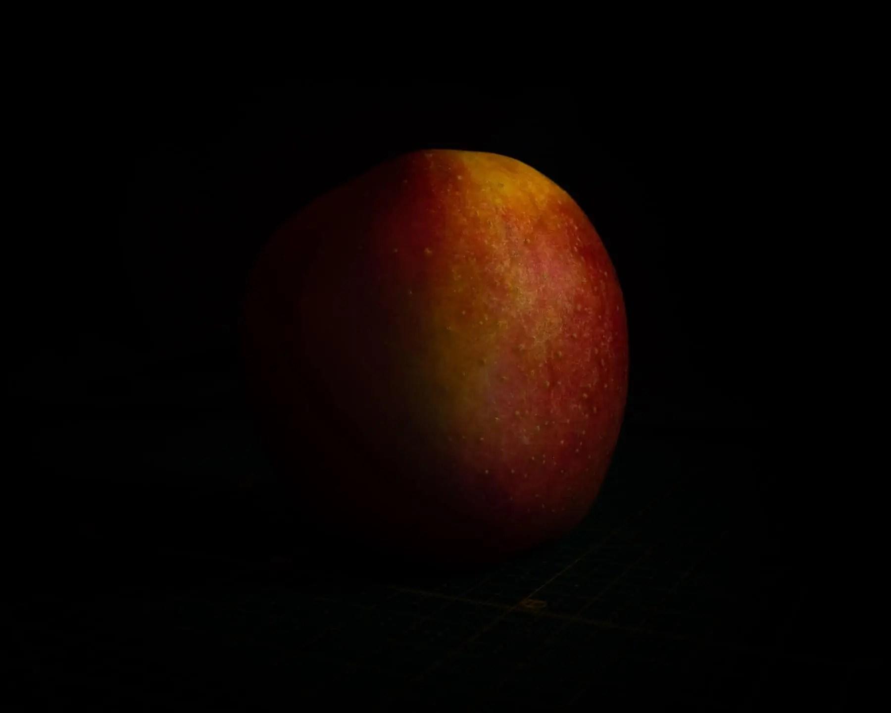 Zdjęcia jabłek w stylu rembrandta kolor - Zdjęcia jabłek - polskie owoce