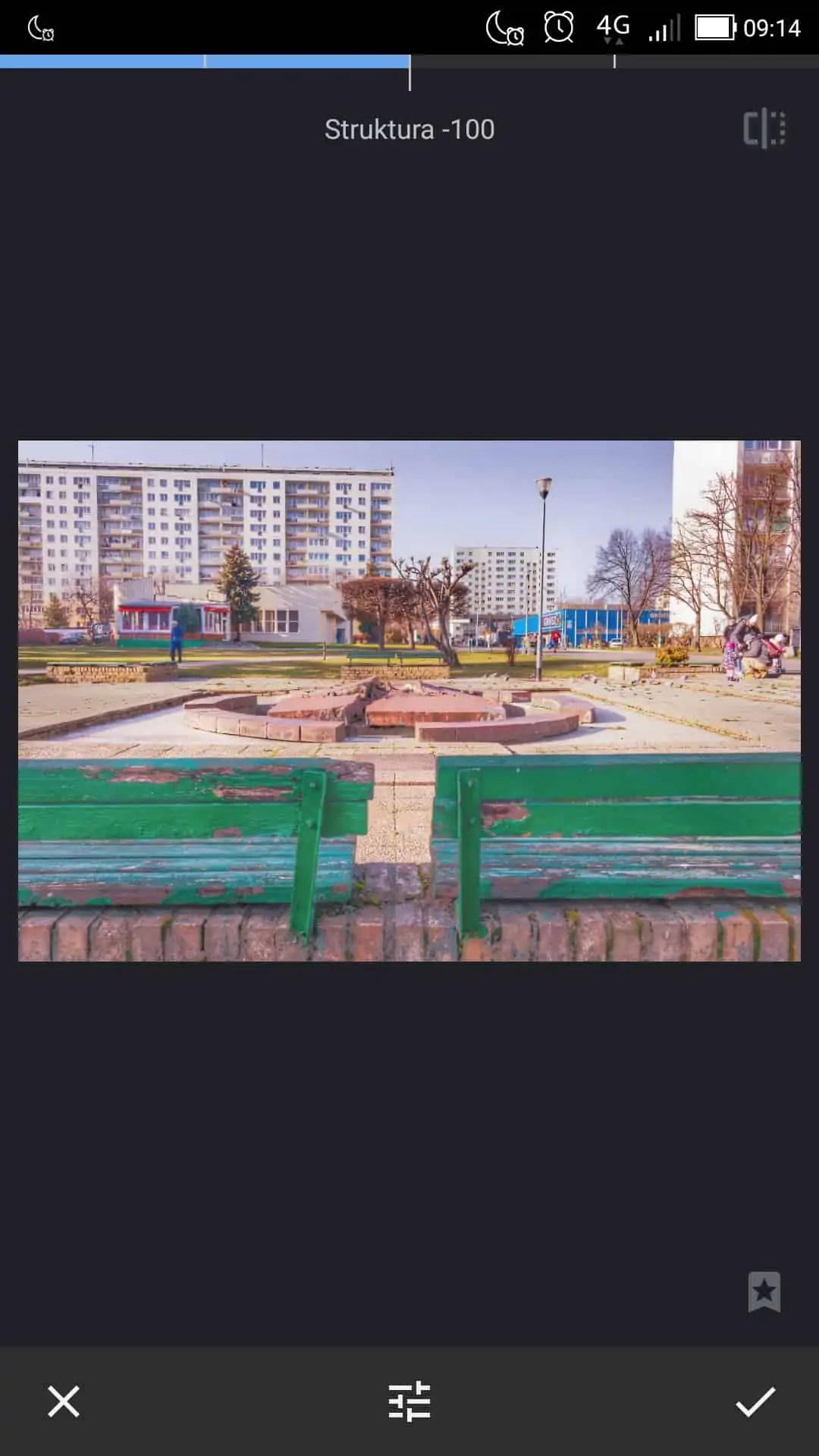 filtr struktury rozmywa kontrast - Snapseed apka do zdjęć dla każdego