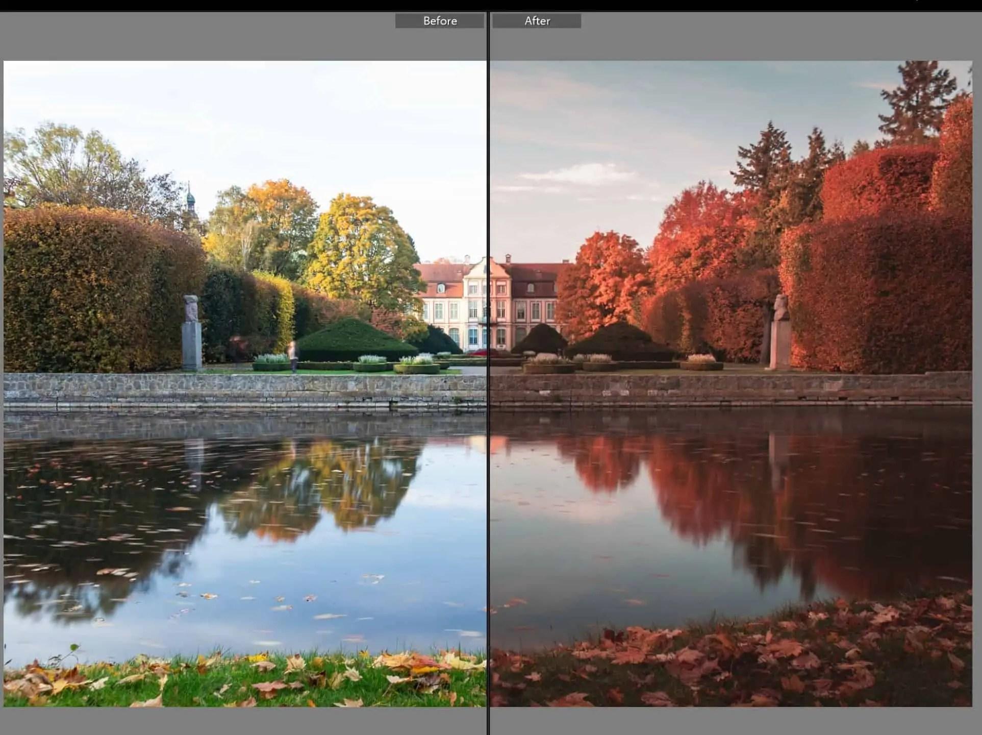 Pastelowe presety do lightrooma czerwony październik - Pastelowe presety do lightrooma - cała wiedza i ponad 7 filtrów