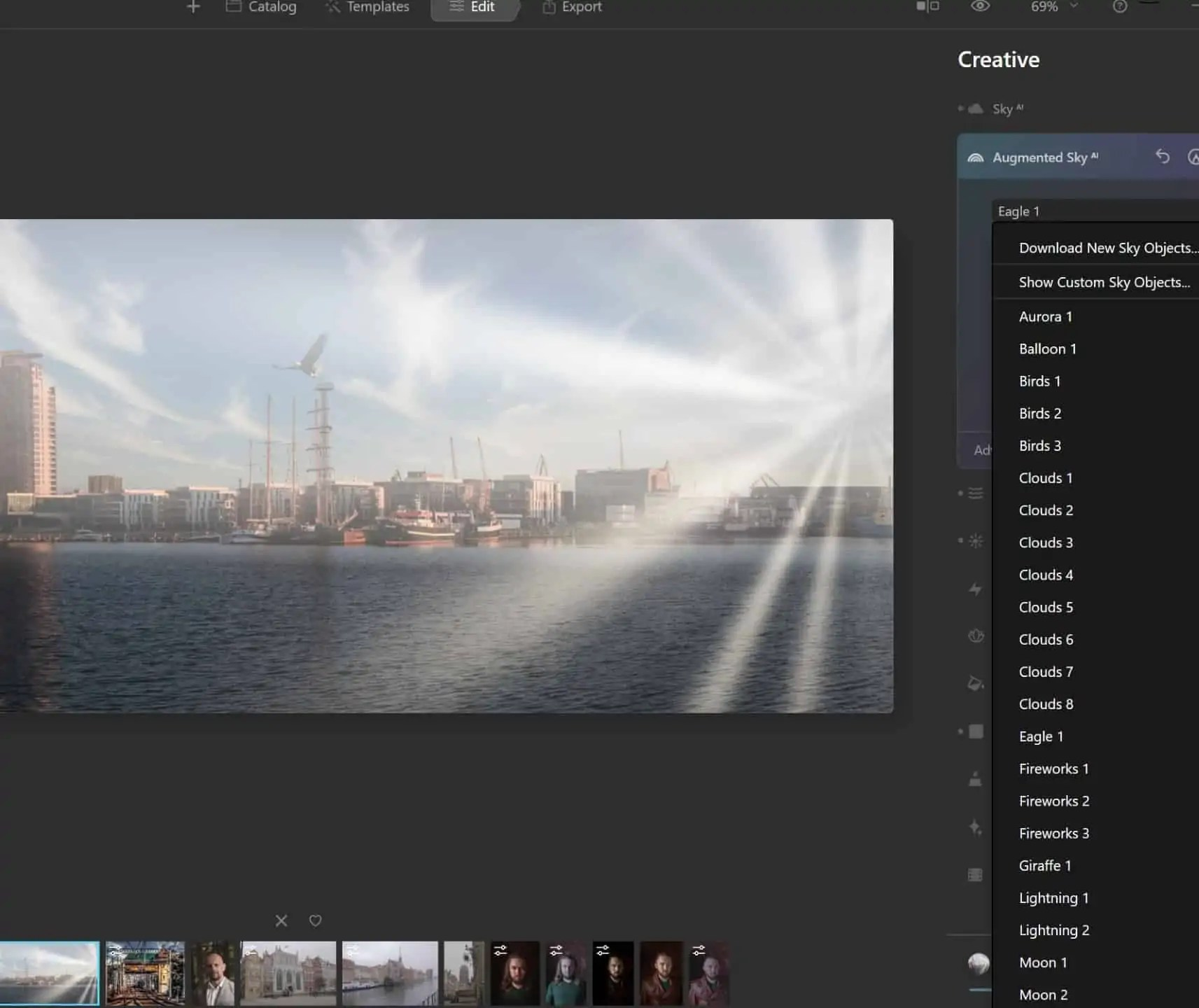 Luminar AI augmented sky AI dodawanie pojedynczych elementow - Program Luminar AI po polsku czyli sztuczna inteligencja do zdjęc w 2020