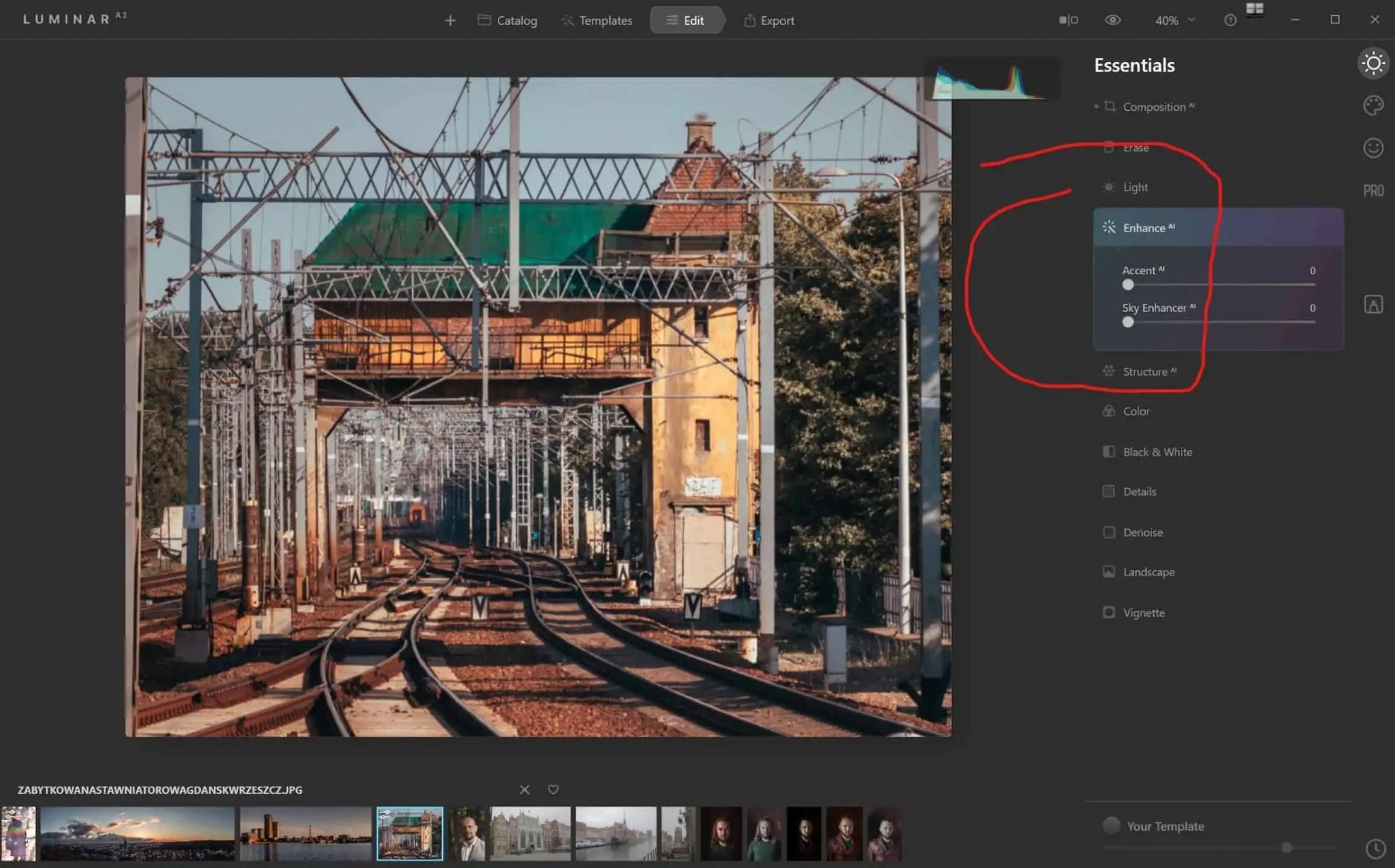 Program Luminar AI essentials Enhance AI PRZED - Program Luminar AI po polsku czyli sztuczna inteligencja do zdjęc w 2020