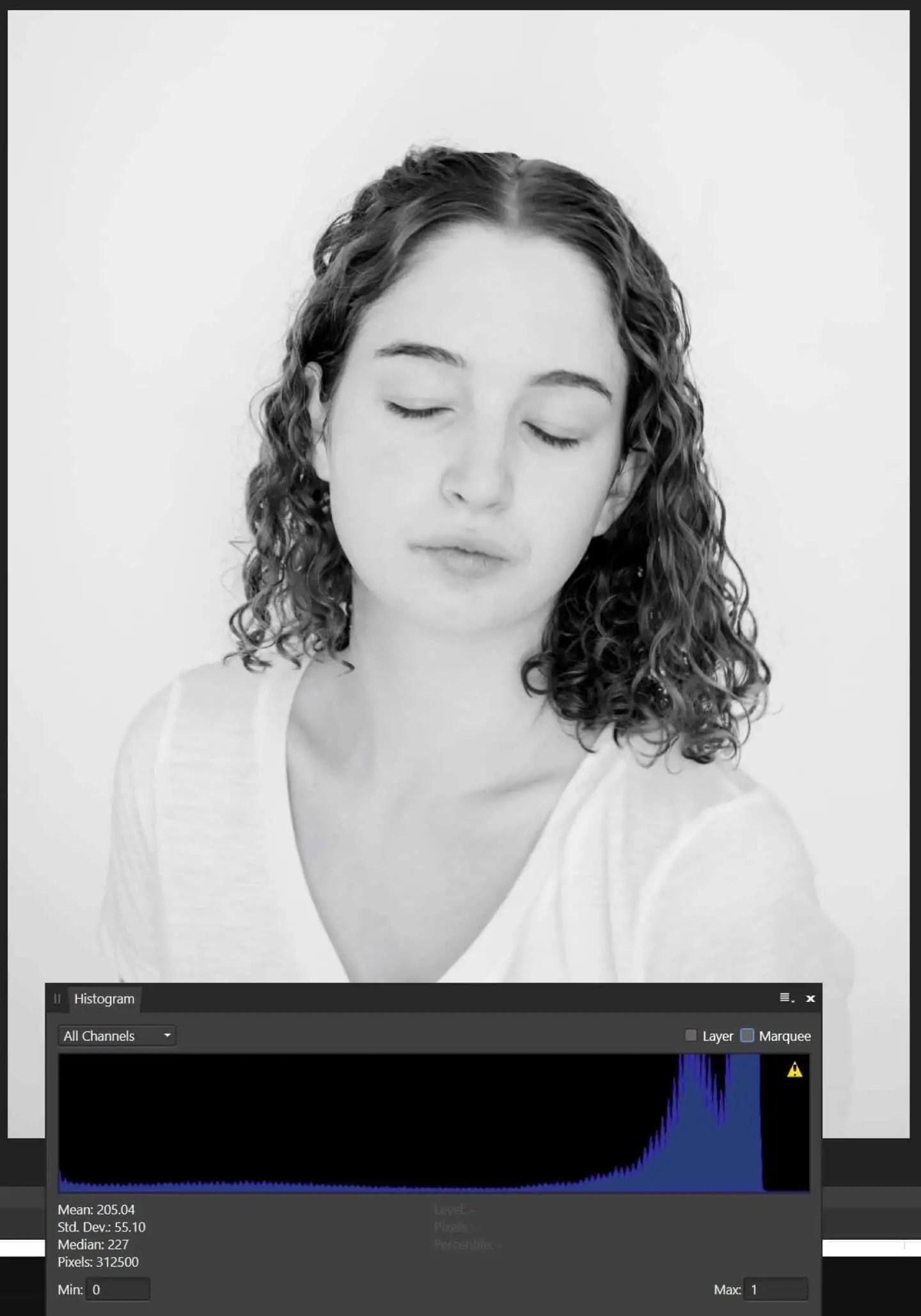 Bialy portret histogram po prawej stronie - Białe zdjęcie - co to jest ? 8 odpowiedzi