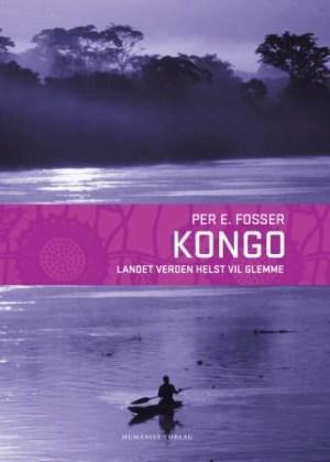 Bildet av en båt på en bred elv i Kongo