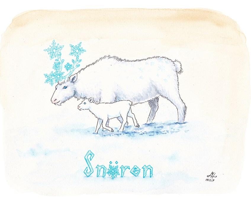 snören illustration ordvits