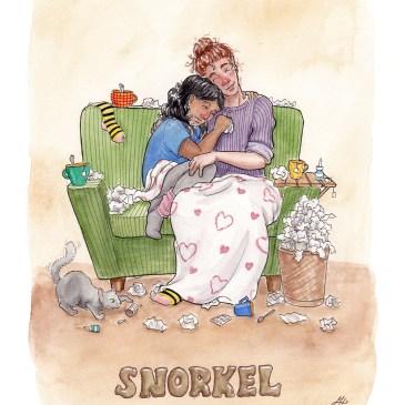 snorkel illustration ordvits