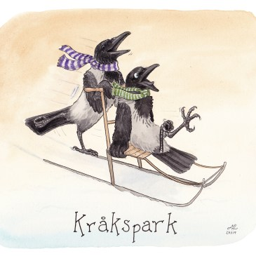 Kråkspark illustration ordvits
