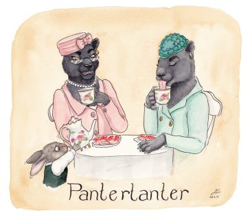 pantertanter illustration ordvits