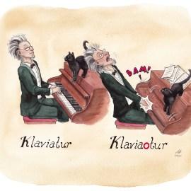 klaviatur illustration ordvits