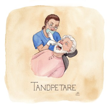 tandpetare illustration ordvits
