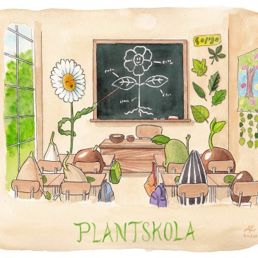 plantskola illustration ordvits