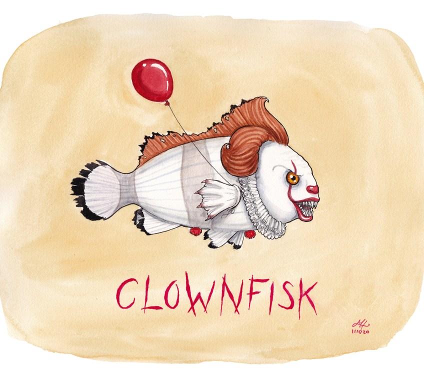 clownfisk illustration ordvits